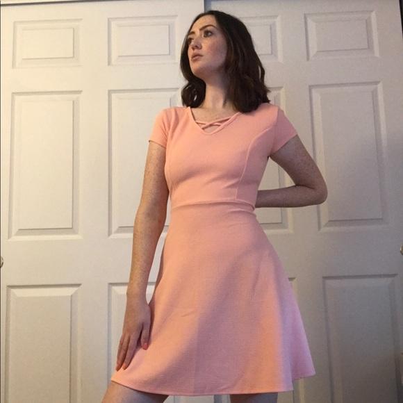 Wilde Dresses & Skirts - Peach Skater Dress